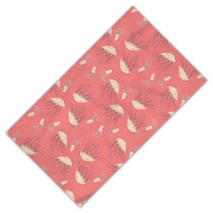 Rosy Jellyfish Pink Patterned Towel