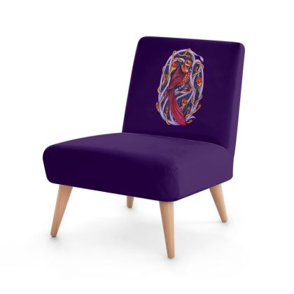 'Red Sky Omen' Occasional Chair