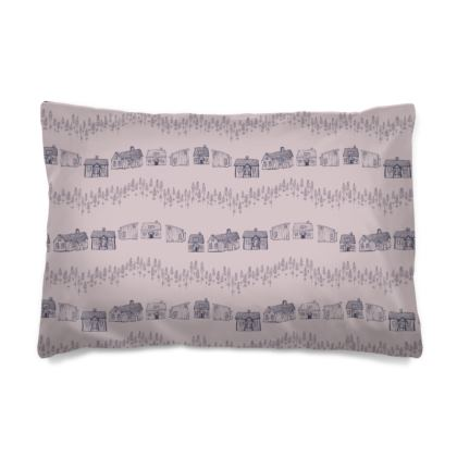 Scandinavian houses printed 'hygge' Pillow Case