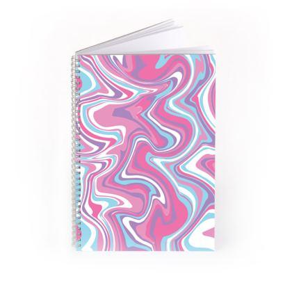 Marbled Unicorn Pattern Spiral Notebook