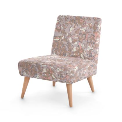 Woody drizzle Scandinavian printed occasional chair