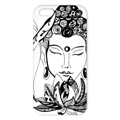 iPhone case white Buddha
