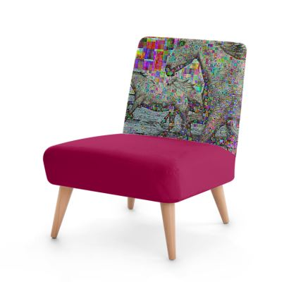 wild glitch horses Occasional Chair