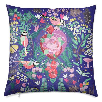 The Secret Garden Cobalt Blue Luxury Cushions