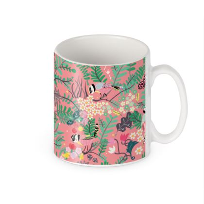 The Secret Garden Pink Builders Mugs