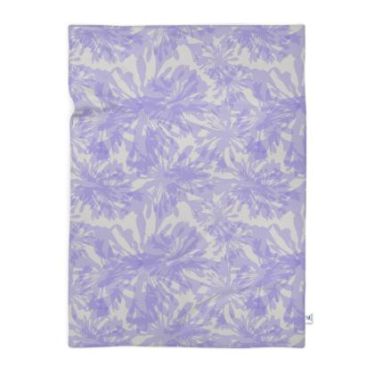 Agapanthus Luxury Collection (White) - Floral Print Blanket
