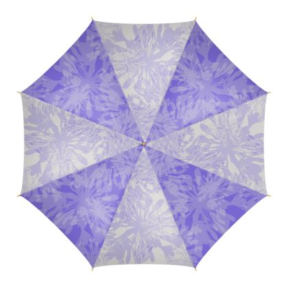 Agapanthus Luxury Collection (Blue & White Line)-  Floral Print Umbrella