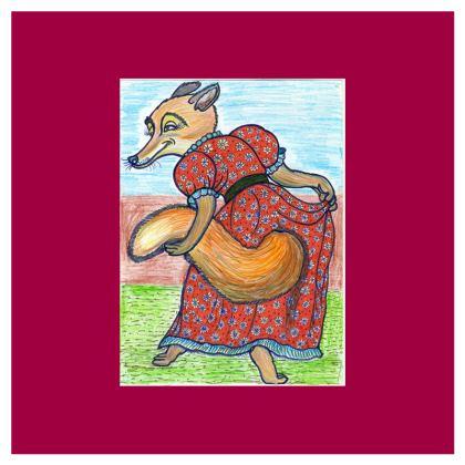 4 Coasters - 'Lisa the Fox'