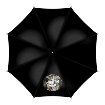 Umbrella - Cow Skull on Colourful Background