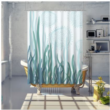 Kelpy calm printed Shower Curtain