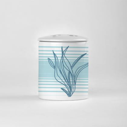 Stripes and Seaweed printed Toothbrush Holder