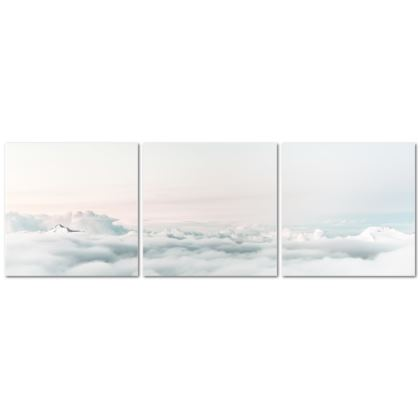The Beach Triptych Canvas