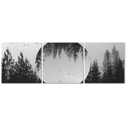 Somewhere Triptych Canvas