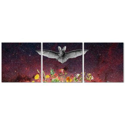 The Bat Triptych Canvas