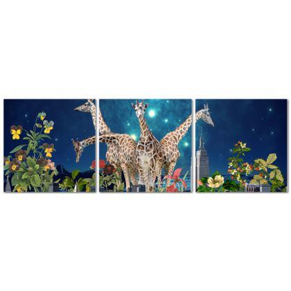 Tomorrowland Triptych Canvas