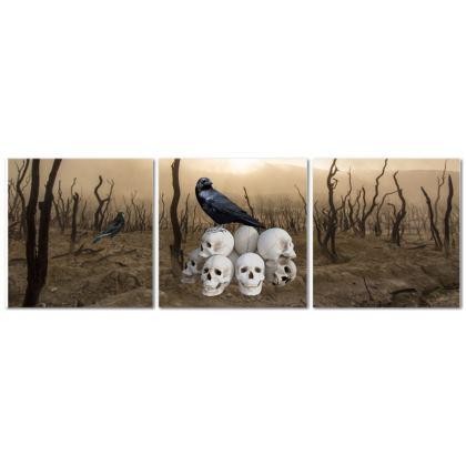 The Eye Triptych Canvas