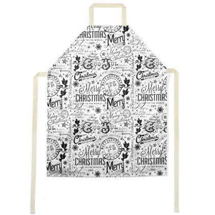 Black and White Typography Aprons