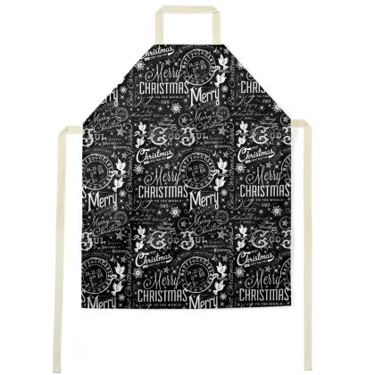 Black and White Typography Apron