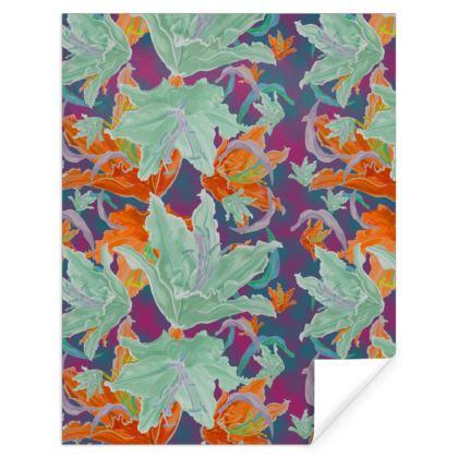 Green, Orange Gift Wrap  Lily Garden   Magician