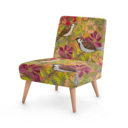 Sweet Sparrows and Briar Rose Occasional Chair