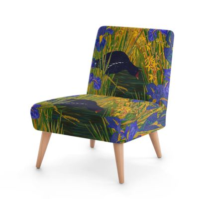 Iris and Moorhen Occasional Chair