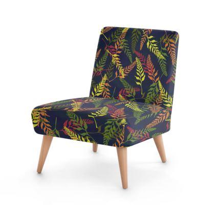 Tropical Foliage Occasional Chair