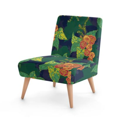 Tropical Floral Occasional Chair