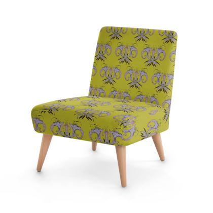 Lime Damask Occasional Chair
