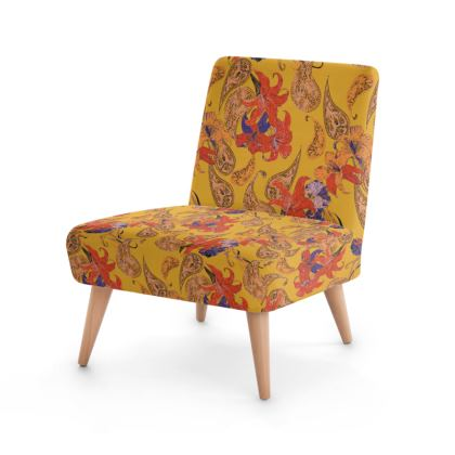 Paisleys and Lilies Occasional Chair