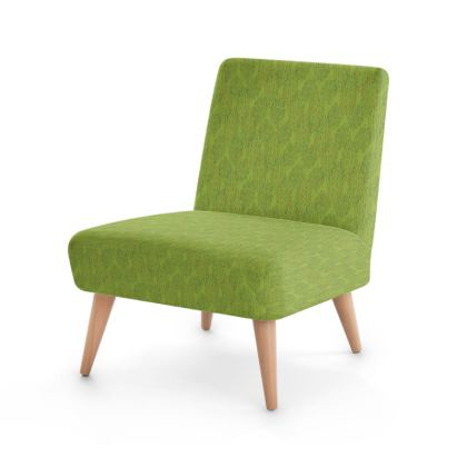 Lime Green Textural Dot Occasional Chair