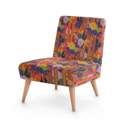 Floral Stripe Occasional Chair