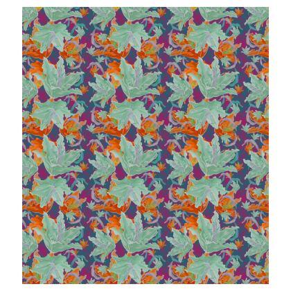 Orange, Green Skater Dress  Lily Garden   Magician
