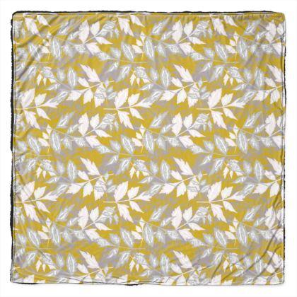 Gold, grey, white [145cm square shown]   Slipstream   Treasure