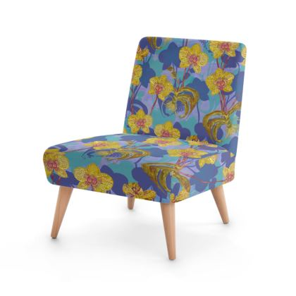 Tropical Orchids Occasional Chair