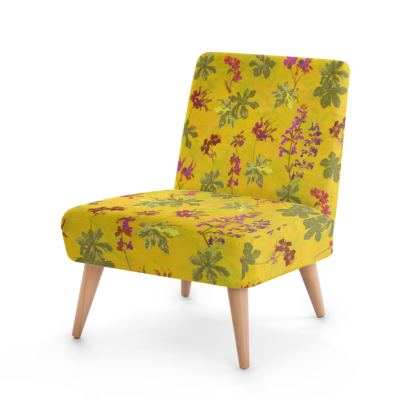 Summer Geranium Pattern Occasional Chair