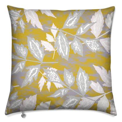 Cushions, Gold, White, Leaf  Slipstream  Treasure