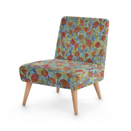 Poppy Pattern (Pale Blue) Occasional Chair