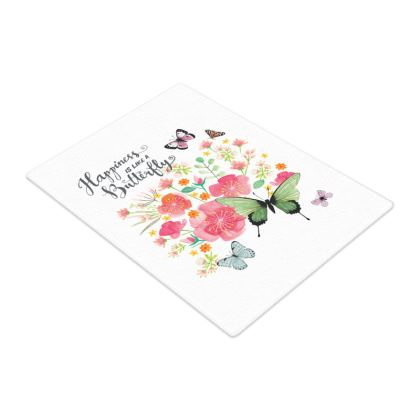 Beautiful ButterfliesGlass Chopping Board by Lucinda Kidney