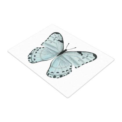 Beautiful Butterflies Glass Chopping Board by Lucinda Kidney
