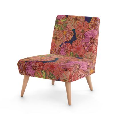 Perfect Poppy Pirouettes (Blue) Occasional Chair