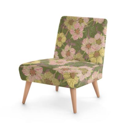 Strawberry Flowers (Natural) Occasional Chair