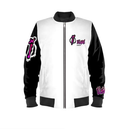 Illegal Outfitters White & Black Bomber Jacket