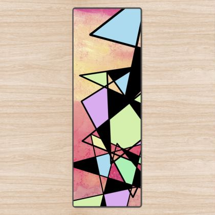 Abstract Geometry Yoga Mat