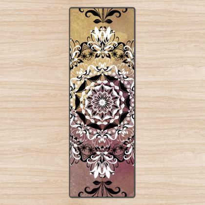 White and Golden Mandala Yoga Mat