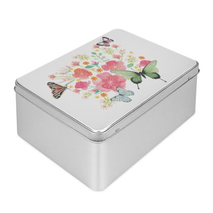 Beautiful Butterflies Biscuit Tin by Lucinda Kidney