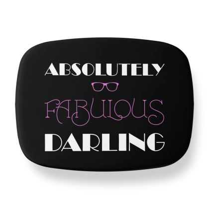 Lunch Box - Absolutely Fabulous Darling - ABFAB (White text)