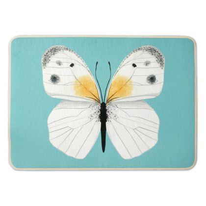 Beautiful Butterflies Bath Mat by Lucinda Kidney