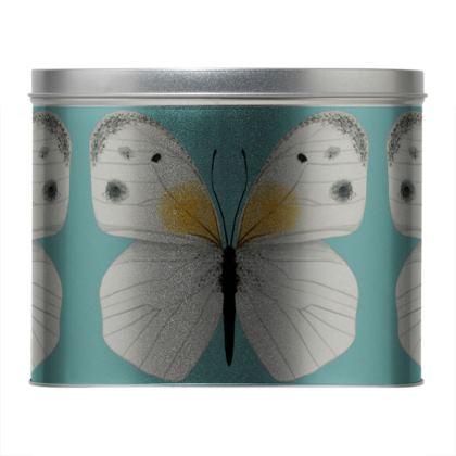 Beautiful Butterflies Round Tin by Lucinda Kidney
