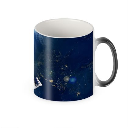 Space Port Heat Changing Mug