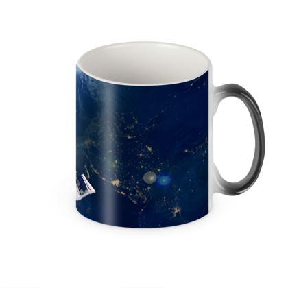 Space Port Heat Changing Mug
